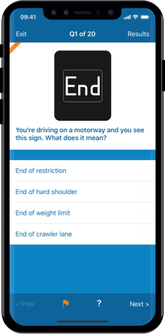 LGV Theory Test 2019 UK for iPhone, Mac and Android- Flag and Review Questions