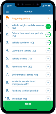 LGV Theory Test 2019 UK for iPhone, Mac and Android- Practice Test