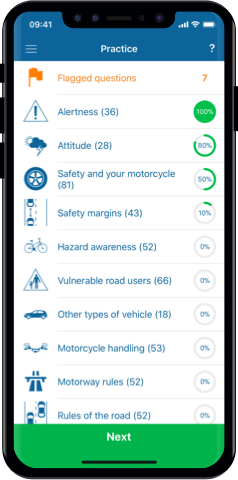 Motorcycle Theory Test 2020 UK for iPhone, Mac and Android- Practice Test