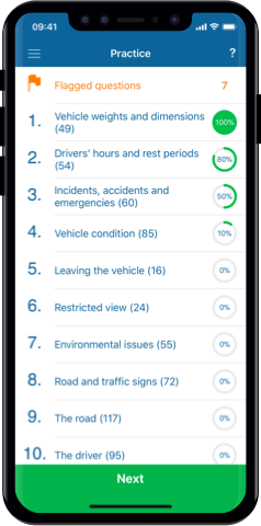PCV Theory Test 2019 UK for iPhone, Mac and Android- Practice Test